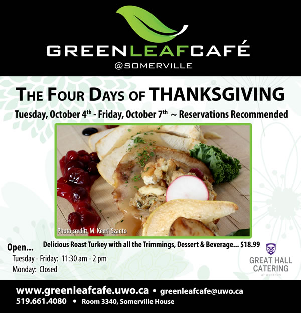 The Four Days of Thanksgiving - Green Leaf Cafe
