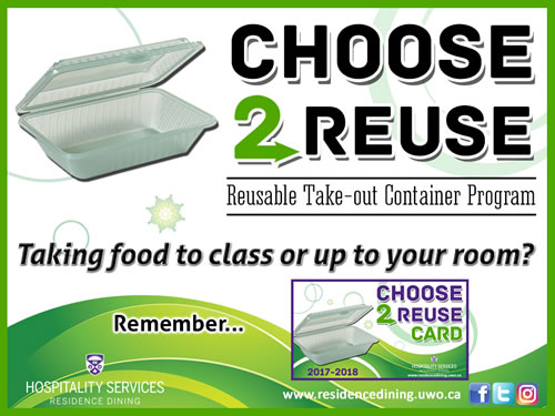 Choose2Reuse reusable take-out container program