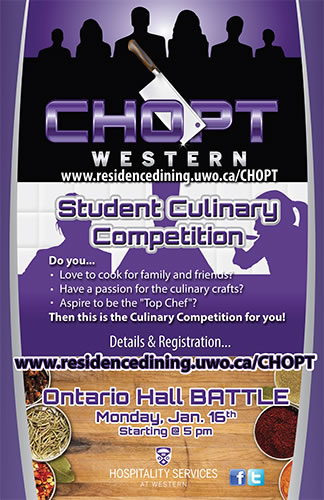 CHOPT - Student Culinary Competition @ Ontario Hall
