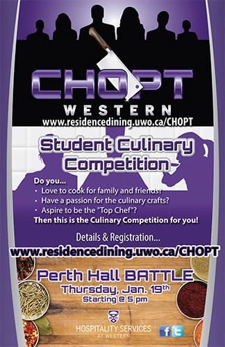 CHOPT - Student Culinary Competition @ Perth Hall