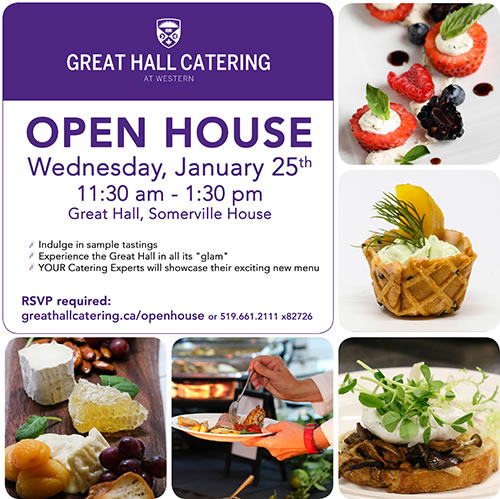Great Hall Catering OPEN HOUSE
