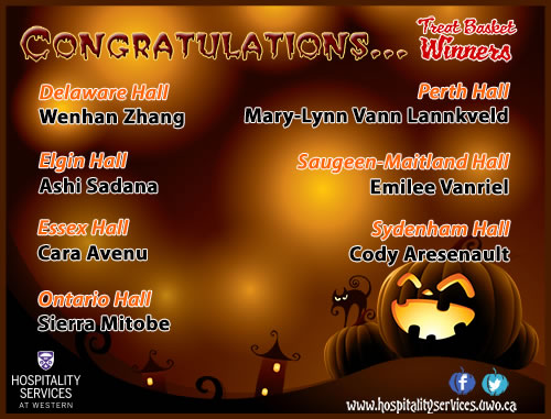 Rez Dining  Halloween Candy Winners