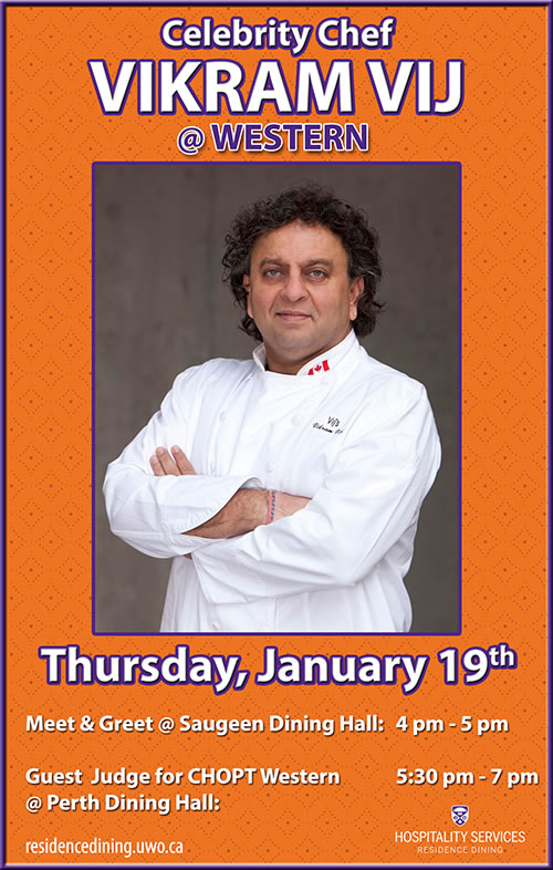 Celebrity Chef Vikram Vij @ Western